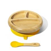 Avanchy Baby Bambusowy Talerz z Przyssawką i Przegródkami Yellow