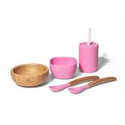 Avanchy Family Zestaw Obiadowy dla Dziecka Pink
