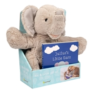Pearhead Zestaw Prezentowy Książeczka dla Dzieci i Pluszowy Słoń