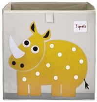 3 Sprouts Pudełko na Zabawki Nosorożec