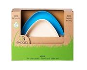 eKoala Miseczka i Talerzyk Blue BIOplastik