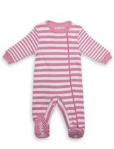 Juddlies Pajacyk Sachet Pink Stripe 6-12m