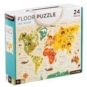 Petit Collage Puzzle Podłogowe Mapa Świata