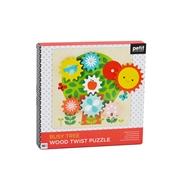 Petit Collage Drewniane Ruchome Puzzle dla Dziecka Drzewo
