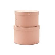 Kids Concept Pudełka Okrągłe 2 szt Pink