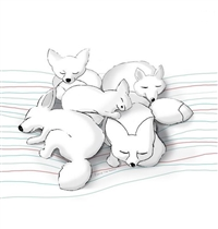 Kids Concept Edvin Plakat Śpiące Liski