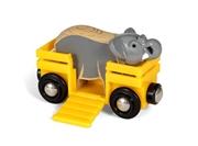 BRIO World Wagon ze Słoniem Safari
