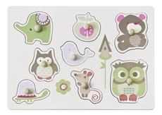Kids Concept Puzzle Drewniane Zwierzątka