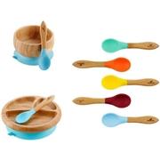 Avanchy Rainbow Bambusowy Zestaw Obiadowy dla Dziecka Blue