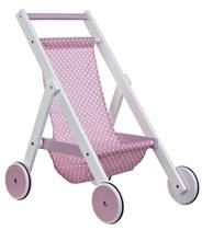 Kids Concept Drewniany Wózek dla Lalek Róż