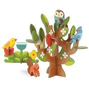 Petit Collage Puzzle Przestrzenne Drzewo
